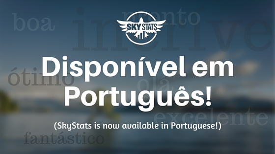SkyStats WordPress Dashboard Portuguese