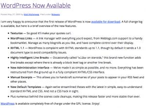 Best WordPress Dashboard Announcement | SkyStats