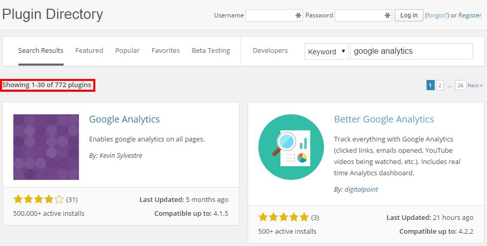 List of Google Analytics WordPress Plugins