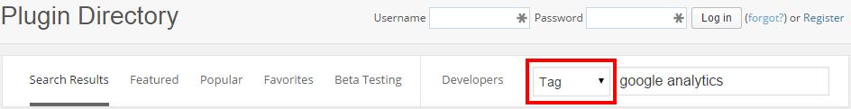 WordPress Directory Tag Search